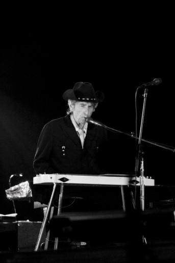 Bob Dylan performs at Roskilde Festival in Roskilde, Denmark